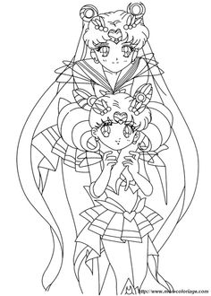 ausmalbild sailor moon manga