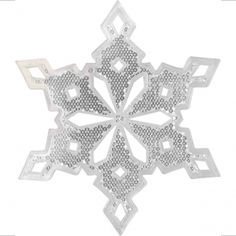 Snowflake Spoke Reflector -For making bikes Christmassy :)