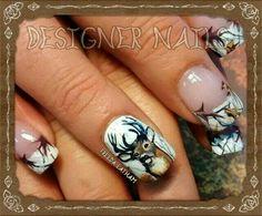 Snow Camo with deer nails Camo Nail Designs, French Tip Nail Designs, French Tip Nails, Nail Art Designs, Nails Design, French Manicures, Hair Designs, Camo Nail Art, Camouflage Nails