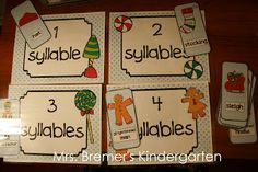 Gingerbread Activity Pack {by Anita Bremer} syllables activity
