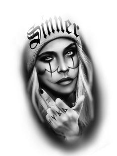 Chicano Tattoos, Dope Tattoos, Leg Tattoos, Girl Tattoos, Tattoos For Guys, Gangsta Tattoos, Sketch Tattoo Design, Tattoo Sketches, Tattoo Designs