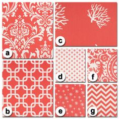 Custom Crib Bedding You Design   Bumper and Bedskirt in Coral. $229.00, via Etsy.