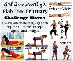 Flab Free February Challenge via http://girlgonehealthy.com/flab-free-february-2015/