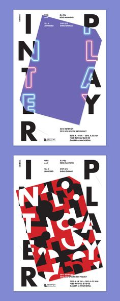 """Graphic Identity for 2015 Site–specific Art Project """"INTERPLAY"""" Poster, Leaflet, Invitation, Banner 2015 Client: National Museum of. Book Cover Design, Book Design, Layout Design, Typography Poster, Typography Design, Text Design, Graphic Design, Typography Letters, Lettering"""