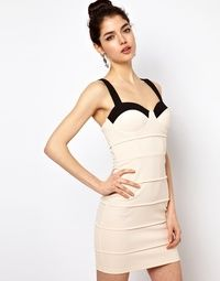 Starry Two Tone Body-Conscious Dress