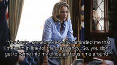 4th in Line...#MadamSecretary #WomenAndPolitics #TV