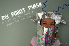 Robot mask kid craft - 16 Fun and Easy DIY Kid Crafts and Activities Easy Crafts For Kids Fun, Easy Diy Crafts, Diy For Kids, Cool Kids, Activities For Kids, Kid Crafts, Robot Crafts, Simple Crafts, Summer Crafts