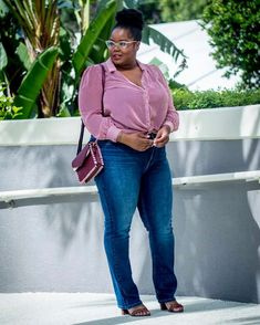 "50c83816d5ad0 Chante Burkett on Instagram  ""Casual Monday s call for a good pair of jeans  (. Plus Size Fashion ..."