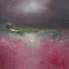 Lisa House - Fields of Crimson, pink and purple, abstract art, landscape painting, Lisa House House Landscape, Abstract Landscape, Landscape Paintings, Abstract Art, Landscapes, Affordable Art Fair, House Painting, Contemporary Artists, Bunt