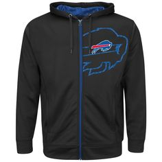 Buffalo Bills Hoodie - Full-Zip Coverage Sack IV - $65