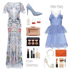"""modern bohemian prom style"" by givenchygurl on Polyvore featuring self-portrait, Aquazzura, Dorothy Perkins, Temperley London, Herbivore Botanicals, Treesje, Smashbox, Bobbi Brown Cosmetics, Essie and Camille K"