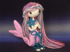 Free Crochet Amigurumi Mermaid Pattern : English crochet doll pattern mermaid ava艾娃 a crochet doll
