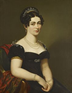 1818 Victoria, Duchess of Kent by George Dawe (Royal Collection) From vive-le-empereur.tumblr.com:post:71524303283:victoria-duchess-of-kent-george-dawe-1818 via www.pinterest.com:thedreamstress:1790-1820-fashion-in-art