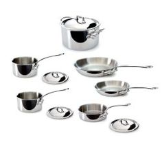 Mauviel M'Cook 5 Ply Stainless Steel Set with Cast Stainless Steel Handle In 1830 in a Normandy village called Villedieu-les-Poles, Mr. Specialty Cookware, Kitchen Cookware Sets, Made In America, It Cast, Handle, Stainless Steel, Cooking, How To Make