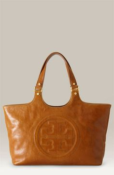 Tory Burch 'Bombe' Glazed Leather Tote ...i want this purse!!!!