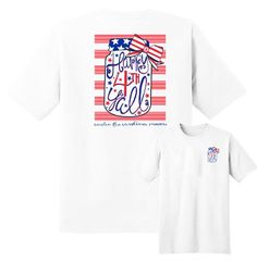 We're Giving away a 4 Mason Jar Happy Fourth Y'all t-shirt on Friday, June 5th at 9pm.