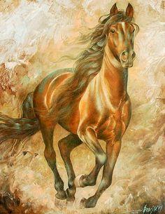 pinturas-al-oleo-caballos-corriendo