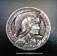 Hobo Nickel 'Trojan' Carved on A 1937 Buffalo Nickel   eBay