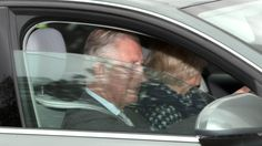 Prince Charles and Camilla pictured arriving at Kensington Palace to see #RoyalBaby
