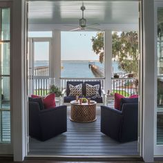 10 Inspired Ways to Get Your Patio Party-Ready An Upgraded Porch A modern screened-in porch that mixes breezy décor with sleek amenities adds vacation home vibes to your space. The intimate setting is perfect to share with company—or just that morning cup of joe.