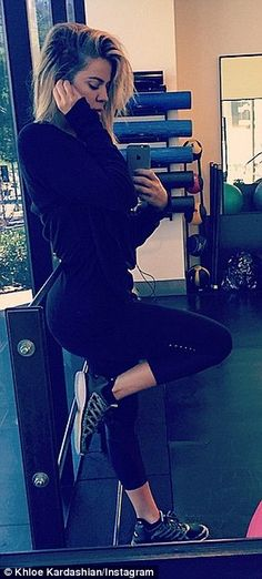 'When I'm in L.A I go hard,' Khloe's social media pays homage to her gruelling workout ses...