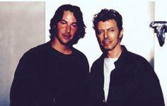 Keanu ♡♥ Reeves and David Bowie in 1995