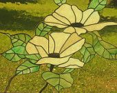 Stained Glass Panel - Lotus Blossoms - beautiful colors for a card