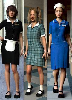 Uniform Dress for Genesis 2 Female(s)