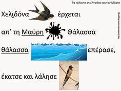 """Δραστηριότητες, παιδαγωγικό και εποπτικό υλικό για το Νηπιαγωγείο & το Δημοτικό: """"Χελιδόνα έρχεται απ'τη Μαύρη Θάλασσα..."""": Εικονόλεξο για τα κάλαντα της Άνοιξης (από τον ψηφιακό δίσκο """"Η Περπερούνα"""")"""