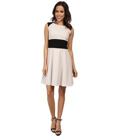 Marc New York by Andrew Marc Marc New York by Andrew Marc  SS Fit and Flair Color Block Dress MDXM Clay Womens Dress for 55.99 at Im in!
