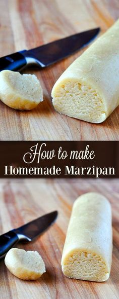 How to make Homemade Marzipan - better flavour, less expensive! Now you can make it at home fresh every time you need it; much better than store bought. (How To Make Homemade Cheese) Fudge, Niederegger Marzipan, How To Make Marzipan, Candy Recipes, Dessert Recipes, British Baking, Cookies Et Biscuits, Christmas Baking, Just Desserts