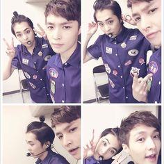 Fans felt an overload of cuteness upon seeing a new selfie of EXO members Lay and Xiumin. Fans felt an overload of cuteness upon seeing a new selfie of EXO members Lay and Xiumin. Lay Exo, Exo Xiumin, Exo Ot12, Kpop Exo, Kim Min Seok, Xiu Min, 2ne1, Chanbaek, Btob