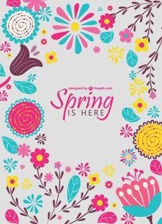 Diseño floral de primavera Vector Gratis