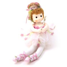"""Sugar Plum Musical Fairy Doll plays """"Dance of Sugar Plum Fairy"""" Filled with joy this little fairy moves her head and wand to the music."""