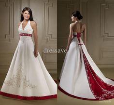 Burgundy Wedding Dress with Chapel Train – fashion dresses
