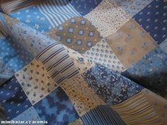 látka metráž modrý PATCHWORK Quilts, Blanket, Bed, Home, Scrappy Quilts, Stream Bed, Quilt Sets, Ad Home, Blankets