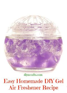 We have a great DIY recipe for you to make your own gel air fresheners and if you keep a lid on them when you are not using them, the scent will last for a few weeks.