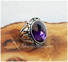 Bronze Ring, Amethyst Stone, Name Necklace, Silver Man, Beautiful Rings, Handmade Silver, Jewelry Art, Sterling Silver Rings, Ottoman