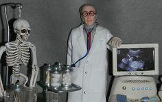 Dollhouse Miniature Doctor Doll Figure Man Male Boy 1 12th Scale Hospital | eBay