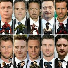 Avengers +X-Men❤ ))) guys let be honest. all the attractive men are found in marvel😘 Memes Marvel, Marvel Actors, Marvel Funny, Disney Marvel, Marvel Dc Comics, Marvel Avengers, Avengers Series, Man Thing Marvel, Film Serie