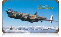 Lancaster AVRO Vintage Metal Sign