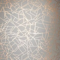 Angles by Erica Wakerly - Copper Rose / Zinc Grey - Wallpaper : Wallpaper Direct
