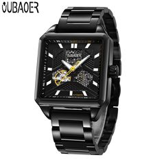 64ef0fbf212a Top Brand Luxury Watches Men Automatic Mechanical Watches Men Black Full  Steel Business Waterproof automatic self wind Watch-in Mechanical Watches  from ...