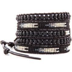 Chan Luu Beaded Wrap Bracelet - Matte Onyx/Natural Black