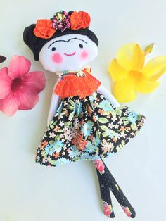 This doll is my interpretation of the amazing Mexican artist Frida Kahlo. When I…
