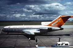 South African Airways ZS-EKX 'Swakop' Boeing 727-100, entered service in 18 August 1967. Later re-registered as ZS-SBG.