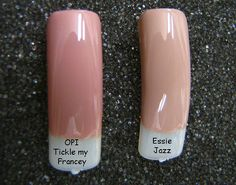 two best neutrals: OPI Tickle my Francey and Essie Jazz