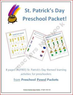 St. Patrick's Day Preschool Packet