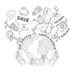 Doodles ecology concept vector by macrovector on VectorStock®