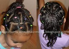 biracial hairstyles...veil style braids into ponytail